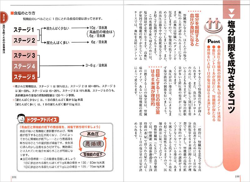 食事療法のコツを約30ページにわたり紹介