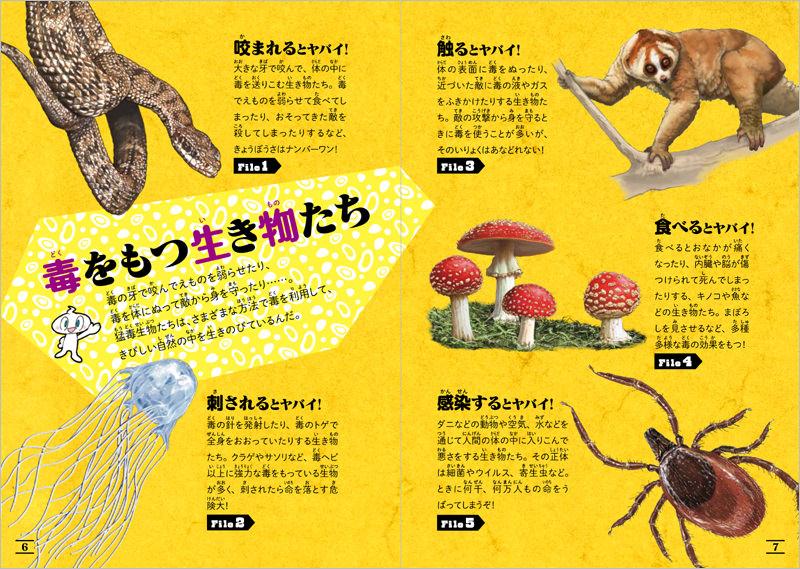 猛毒生物を5つのタイプに分類