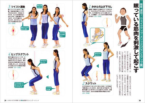 使っていない筋肉を目覚めさせると、動きは軽くなる