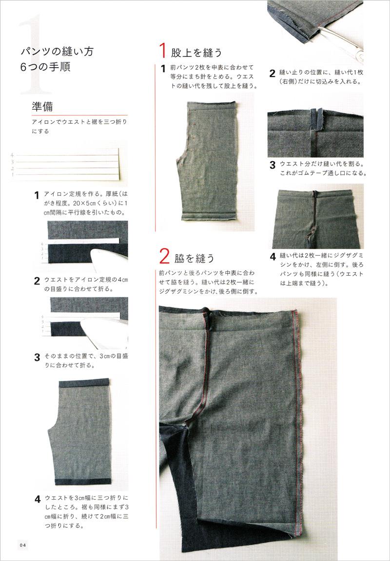 パンツの作り方を巻頭に掲載